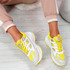 Fiffe Yellow Lace Up Chunky Sneakers