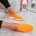 Diffa Orange Knit Trainers