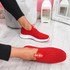 Diffa Red Knit Trainers