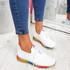 Elva White Rainbow Sole Trainers