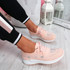 Pehy Pink Studded Knit Sneakers