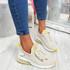 Koddy Beige Lace Up Sneakers