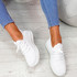 Yppo White Knit Trainers