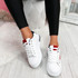 Lossa White Red Blue Lace Up Trainers