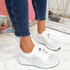 Hezzo White Studded Trainers