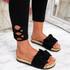 Laya Black Bow Platform Sandals