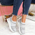 Enna Silver Studded Trainers