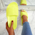 Vessa Yellow Flat Sliders Sandals