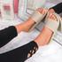 Senny Apricot Knit Flat Sandals