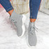 Ubba Grey Lace Up Sock Sneakers