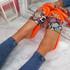Jusso Orange Snake Sandals