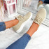 Yppo Beige Knit Trainers