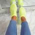 Kolly Green Studded Sock Sneakers