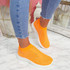 Kolly Orange Studded Sock Sneakers