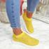 Kolly Yellow Studded Sock Sneakers