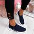 Derra Navy Slip On Sneakers