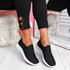 Lonnia Black Slip On Sneakers