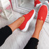 Onno Red Slip On Running Sneakers