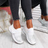 Zenna White Studded Trainers
