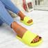 Mannya Fluorescent Yellow Slip On Sandals