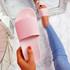 Mannya Pink Slip On Sandals