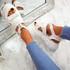 Salla White Chunky Sandals