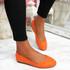 Evera Orange Slip On Ballerinas