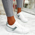 Lezma White Green Lace Up Trainers