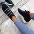 Rogy Navy Lace Up Sock Sneakers