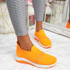 Goppa Orange Studded Sneakers