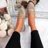 Sise Khaki Studded Ballerinas