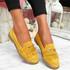 Kepy Yellow Fringe Flat Ballerinas