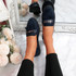 Venny Dark Blue Fringe Ballerinas