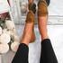Invy Camel Slip On Bow Ballerinas