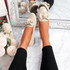 Vinny Beige Bow Flat Ballerinas