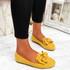 Vinny Yellow Bow Flat Ballerinas