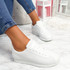 Nivy White Lace Up Trainers