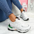 Fossy White Black Chunky Trainers