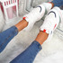 Nimme White Red Chunky Sneakers