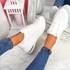 Viffa White Lace Up Chunky Trainers