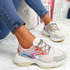 Ogllo Pink Chunky Sole Sneakers