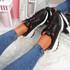 Zennya Black Red Chunky Sneakers