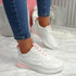 Bymma White Lace Up Trainers
