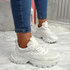 Linna White Chunky Trainers