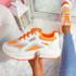 Viza Orange Chunky Trainers