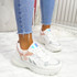 Nuppy White Pink Chunky Sneakers