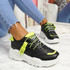 Junny Black Green Chunky Trainers
