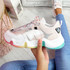 Lizza Pink Rainbow Sole Chunky Trainers