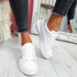 Minno White Grey Lace Up Trainers