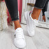 Minno White Silver Lace Up Trainers